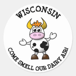 Wisconsin vem cheiro nossas etiquetas engraçadas