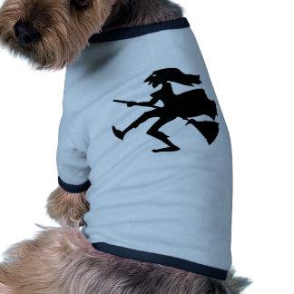 witch broom hexe halloween spider aquele spi cat b camiseta para caes