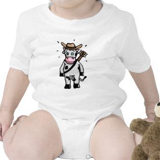 With cowboy Cow Tem Guitar and Macacãozinho Para Bebê