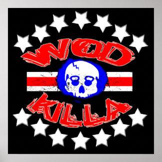 WOD Killa - poster do crânio da chaleira do projet Pôster