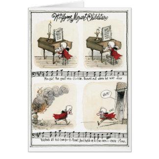 Wolfgang Mozart, cartão da estrela de criança