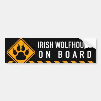 Wolfhound irlandês a bordo adesivo para carro