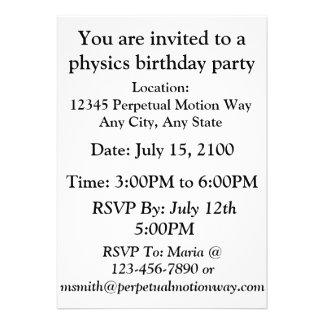 Woodcut da máquina do movimento perpétuo do parafu convites personalizado