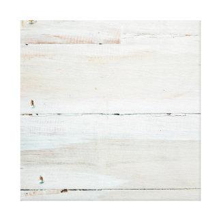 Woodgrain branco de madeira Whitewashed do celeiro Impressão Em Tela