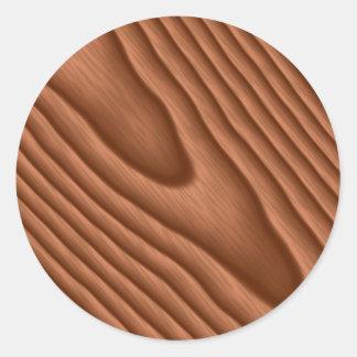 Woodgrain de Brown Textured Adesivo Redondo