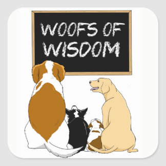 Woofs de etiquetas da sabedoria!