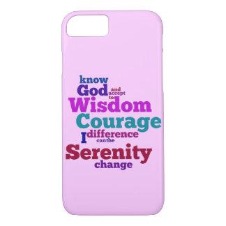 Wordle da oração da serenidade capa iPhone 7