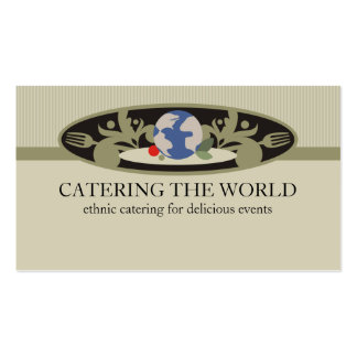 world cuisine chef catering food business cards