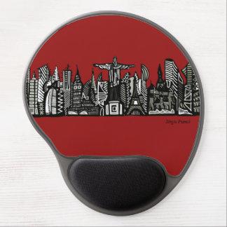 World Skyline Mouse Pad De Gel