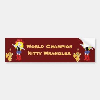 Wrangler do gatinho do campeão do mundo adesivo para carro