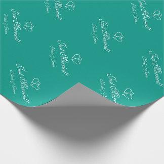 Wrappingpaper personalizado chique do casamento de papel de presente