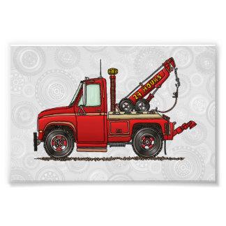 Wrecker bonito do caminhão de reboque artes de fotos