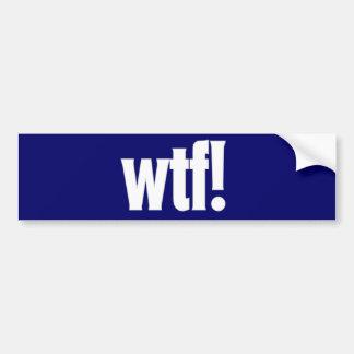 wtf! autocolante no vidro traseiro em azul escuro adesivo para carro