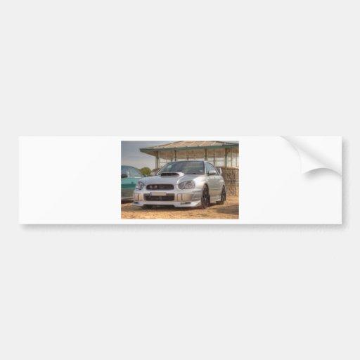 WTI de Subaru Impreza - Jogo do corpo (prata) Adesivo