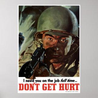 WW2 -- Não obtenha ferido Poster