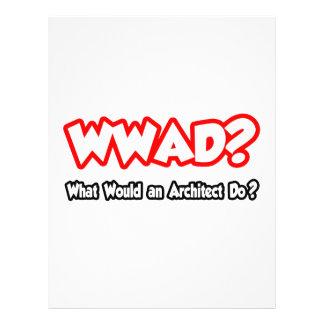 WWAD… o que um arquiteto faria? Panfleto Coloridos