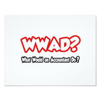 WWAD… o que um contador faria? Convite 10.79 X 13.97cm