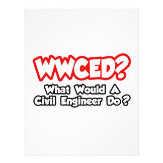 WWCED… o que um engenheiro civil faria? Modelos De Panfleto