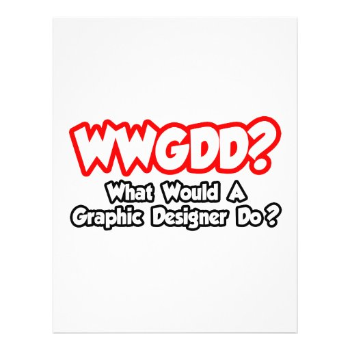WWGDD… o que um designer gráfico faria? Modelo De Panfleto