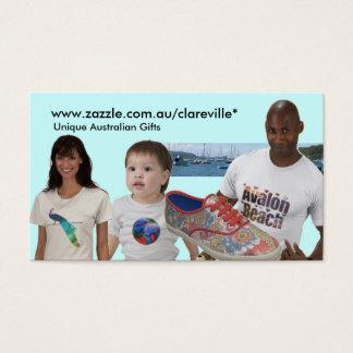 www.zazzle.com.au/clareville* cartão de visitas