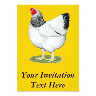 Wyandotte:  Galinha Columbian Convite Personalizado