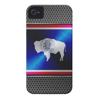 Wyoming escovou a bandeira do metal capas para iPhone 4 Case-Mate