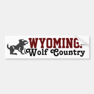 Wyoming: País do lobo Adesivo Para Carro