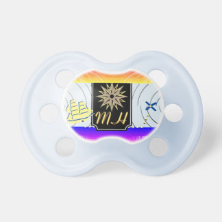 X marcas o Pacifier do compasso do bebê do Chupeta