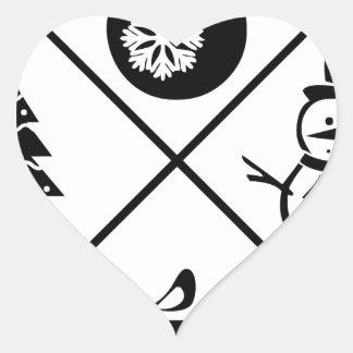 X-Mas Adesivo Coração