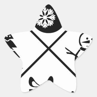 X-Mas Adesivo Estrela