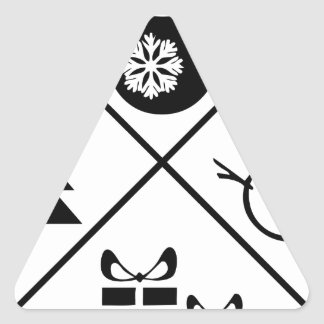 X-Mas Adesivo Triangular