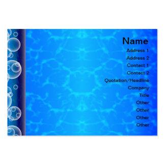 X piscina cartão de visita grande