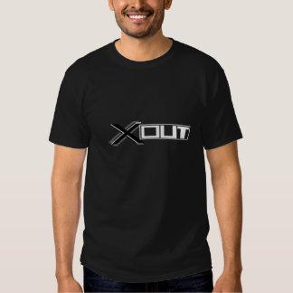 X preto & branco para fora une o t-shirt para