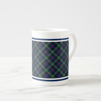 Xadrez azul escuro e verde do Tartan da família de Xícara De Chá