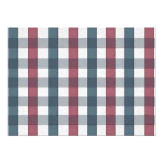 Xadrez branca e azul vermelha do guingão convite