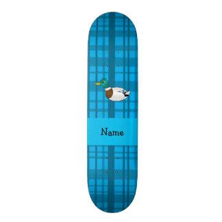 Xadrez conhecida personalizada do azul do pato do  skates