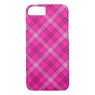 Xadrez cor-de-rosa bonito capa iPhone 7