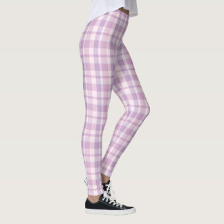 Xadrez cor-de-rosa leggings