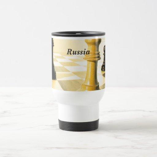 Xadrez de Rússia Canecas