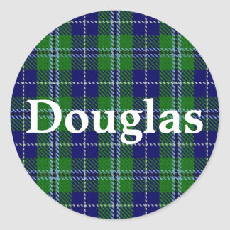 Xadrez de Tartan escocesa de Douglas do clã Adesivo Redondo