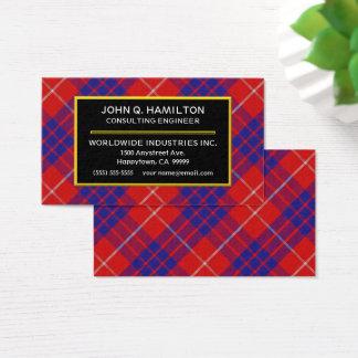 Xadrez de Tartan escocesa de Hamilton do clã Cartão De Visitas