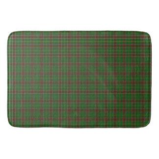 Xadrez de Tartan vermelha verde de Terra Nova do Tapete De Banheiro