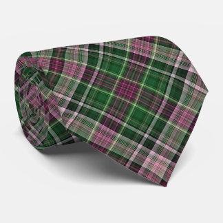 Xadrez diagonal vermelha e verde violeta gravata