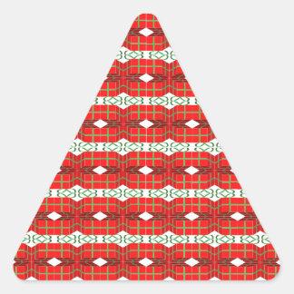 Xadrez do presente de Natal Adesivo Triangular