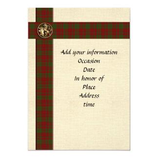 Cartão Xadrez escocesa masculino do modelo do convite