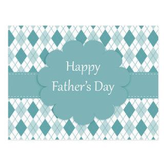 Xadrez feliz do cartão do dia dos pais, a verde e