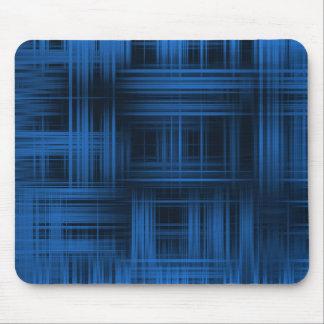 Xadrez moderna azul mouse pad