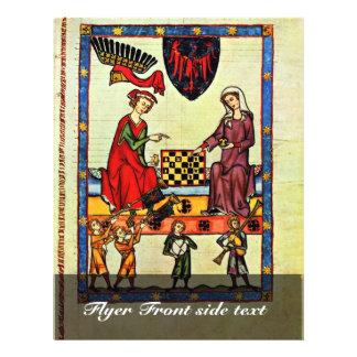 Xadrez, por Meister Der Manessischen Liederhandsch Modelo De Panfletos