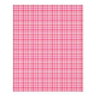 Xadrez rosa vermelha panfletos coloridos