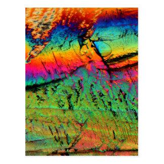 xarope de bordo sob um microscópio cartao postal